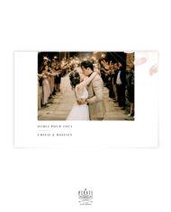 Carte remerciements photo horizontal, esprit automnal – Collection Sienne
