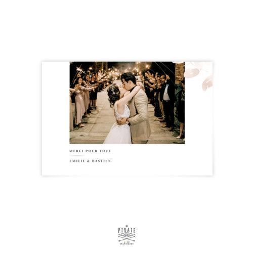 Carte remerciements photo horizontal, esprit automnal - Collection Sienne