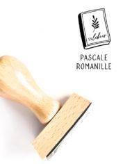 Tampon ex-libris en bois, motif bouquin personnalisé – Motif livre végétal