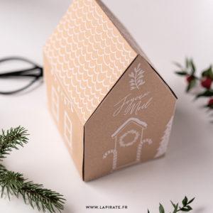 """Maison de Noël, esprit """"Maison de pain d'épices"""" à télécharger gratuitement et à imprimer"""