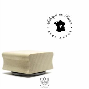 Tampon fabriqué en France rond, tampon packaging emballage, La Pirate