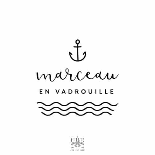 Stickers Bébé en vadrouille, ancre marine personnalisé | Mixte