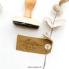 Tampon naissance calligraphie personnalisé, tampon prénom, poids taille bébé Octave