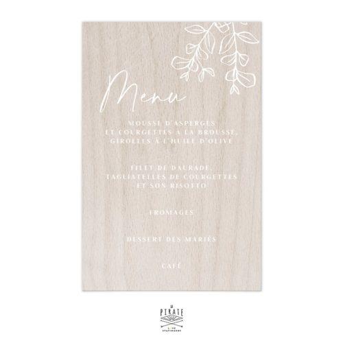 Stickers menu mariage bohème personnalisé pour miroir, plexi, bois | Collection Sienne, Eucalyptus