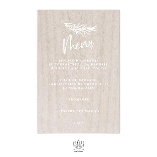 Stickers menu mariage bohème Sahanna personnalisé pour miroir, bois, plexi | Collection Bohème Folk
