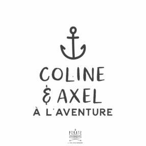 Stickers bébé à l'aventure, bébé à bord ancre, marin, mer, personnalisé - La Pirate
