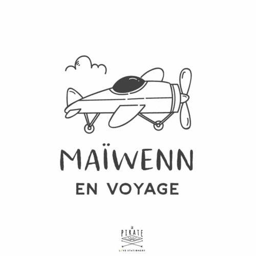 Stickers bébé en voyage, bébé à bord avion, voyage, personnalisé - La Pirate