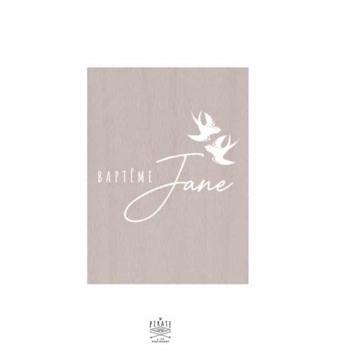 Stickers panneau baptême hirondelles, personnalisé, oiseaux