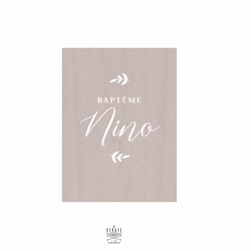 Stickers panneau baptême végétal, personnalisé, feuilles, nature, champêtre chic