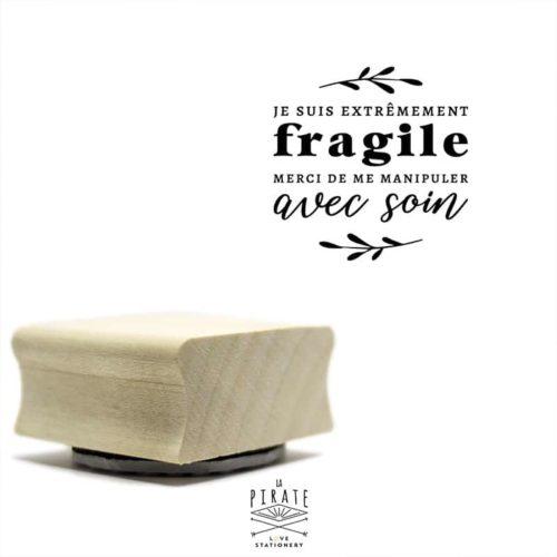 "Tampon ""Je suis extremement fragile, manipuler avec soin"", tampon packaging"